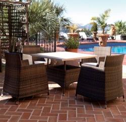 Comedores de ratt n sint tico mobiliario terraza y for Mobiliario jardin rattan