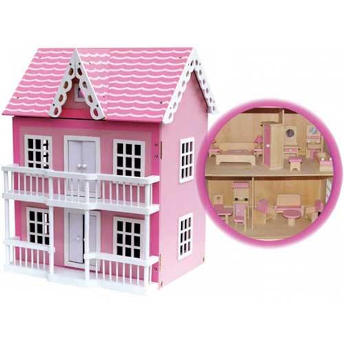 Casas de madera de juguete juguetes bazar for Casas de juguete para jardin