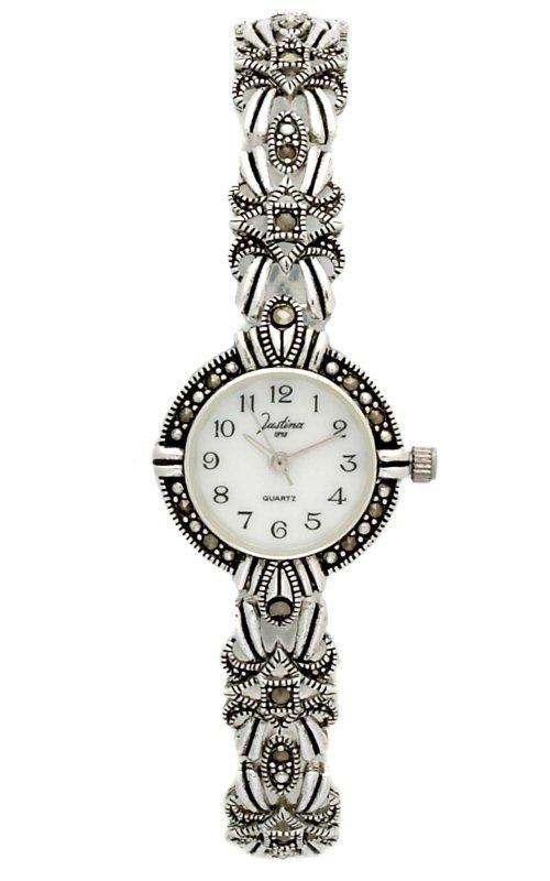 8b1267d2aa42 Reloj JUSTINA plata de señora